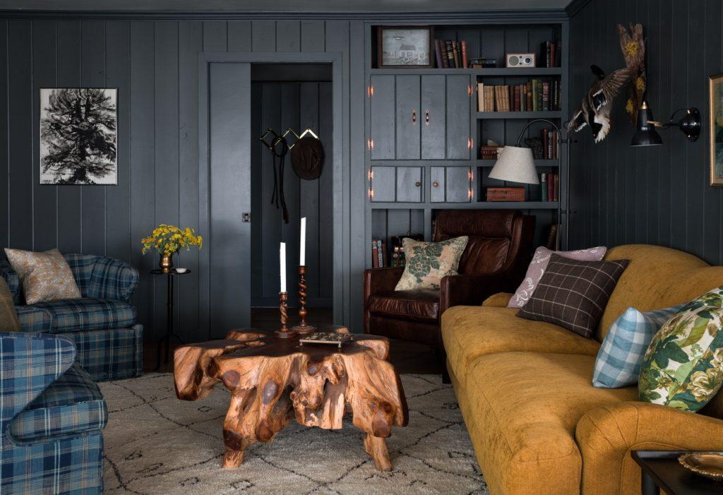 Heidi-Caillier-Design-Seattle-interior-designer-the-cabin-and-the-snug-modern-traditional-dark-walls-living-room